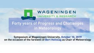 Announcement Forty years of Progress and Challenges in Meteorology